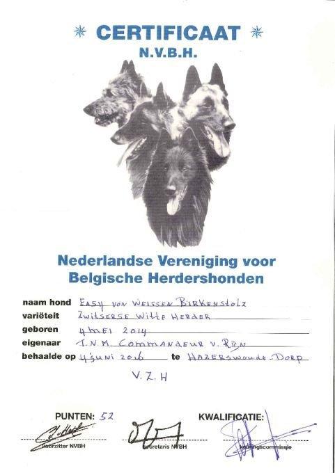 Het VZH certificaat