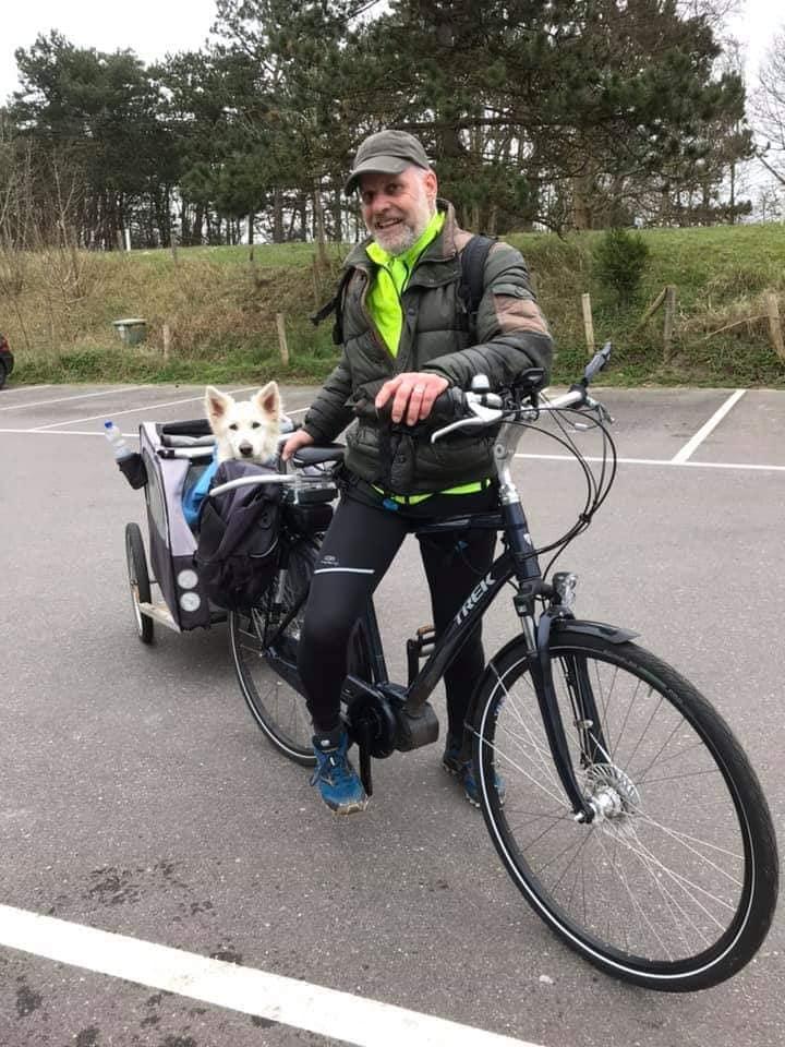 Misthy's Friend Noortje met de fiets