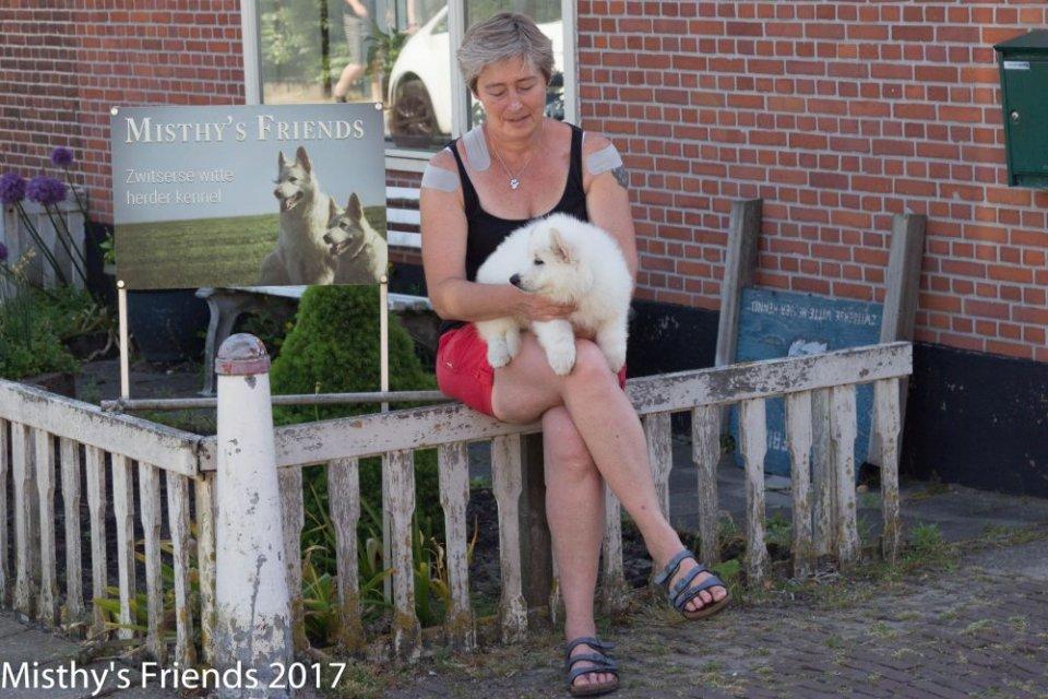 Zwitserse witte herder Misthy's Friends Ody met Thea