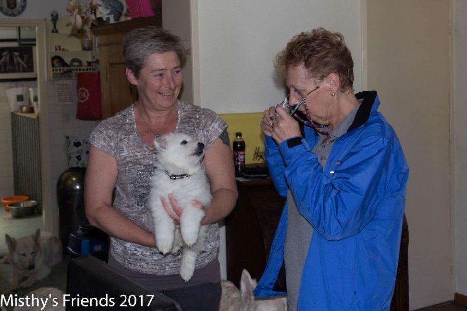 Bezoek dierenarts op 10 mei 2017 pup Solar