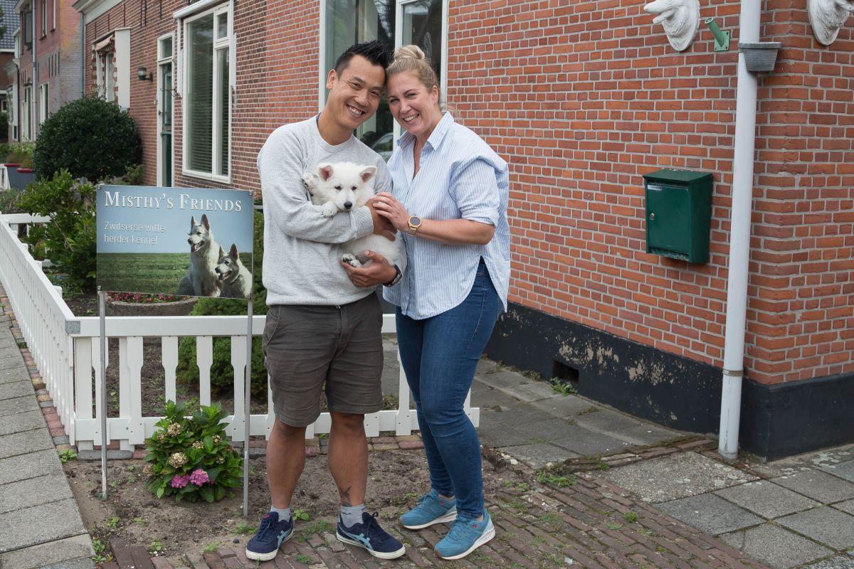 Zwitserse witte herder pup Rhea Denali bij vertrek